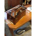 Victorian Rosewood Tea Caddy with Inlay