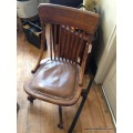 Oak Swivel Office Chair