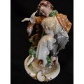 """Capodimonte Figure """"The Brothers"""" by Guiseppe Cappe"""
