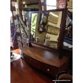 Mahogany Inlaid Dressing Table Mirror