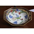 Noritake Handled Bowl - bird and flower design