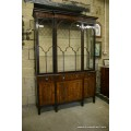 Edwardian Chippendale-style Mahogany Display Cabinet