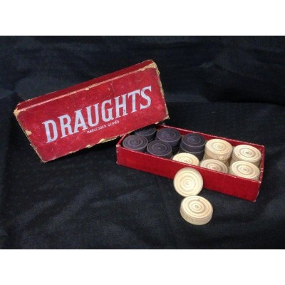 Draughts pieces - 'Harlesden Series', complete set.