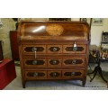 19th Century Inlaid Cylinder Bureau