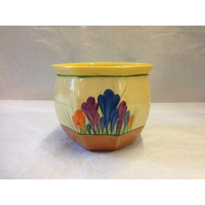 Clarice Cliff Autumn Crocus Hexagonal Fern Pot