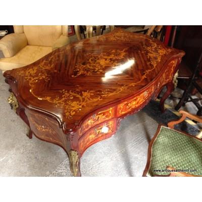 Serpentine Louis XV Revival Style Partners Desk